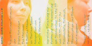 Einladungskarte, Bettina Meyer macht Schmuck: Berliner Originale, 2007