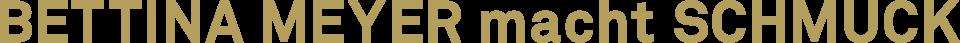 Galerie Bettina Meyer macht Schmuck - Logo