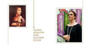 Einladungskarte, Bettina Meyer macht Schmuck: Schöne Gesichter ohne Schlange stehen, 2011