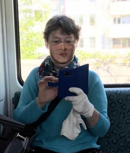 Mit Zweitgesicht in der S-Bahn