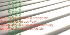 Einladungskarte, Bettina Meyer macht Schmuck: The Best of – Neues Schmuckdesign aus Polen, 2005