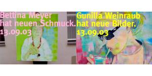Einladungskarte, Bettina Meyer macht Schmuck: Bettina Meyer hat neuen Schmuck, 2003